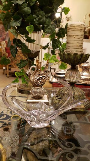 1970's Cofrac Art Verrier France Free Form Crystal Art Centerpiece for Sale in Boynton Beach, FL