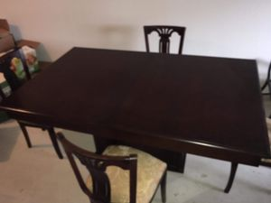 Solid Wood Dining Table w/8 Fabric Chairs for Sale in Elgin, SC