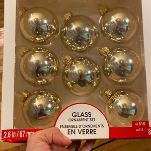 Gold Shiny Glass Ornaments for Sale in Lynnwood, WA