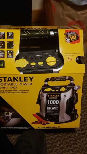 Stanley portable power 1000a jump box and compressor for Sale in Kirkland, WA