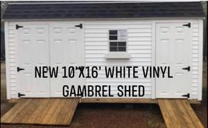 New 10' x 16' White Vinyl Gambrel Shed for Sale in Marblehead, MA