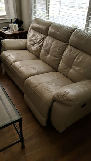 Leather reclining couch for Sale in Bend, OR