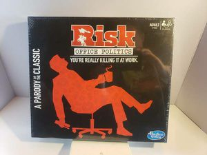 Hasbro Risk: Office Politics Parody Board Game Sealed Box selling for only $10 for Sale in Long Beach, CA