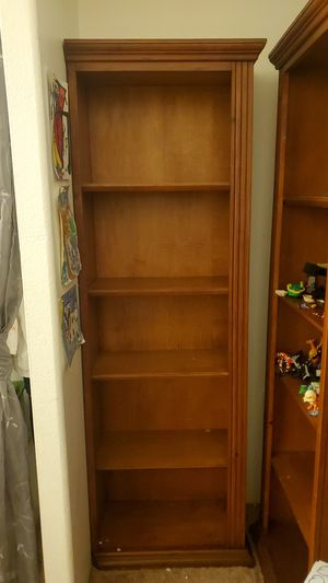 Oak wood bookshelves set of 2 for Sale in CA, US
