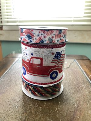 Patriotic Red Truck Ribbon for Sale in Enola, PA