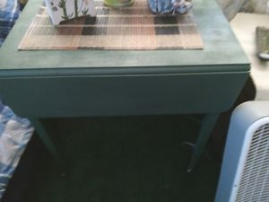 Small antique table refurbished. Drawer....2 side leaves..on wheels for Sale in Pinellas Park, FL