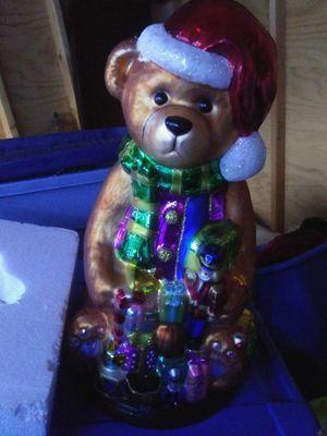 2004 vintage thomas pacconi handblown Mercury glass christmas Santa bear for Sale in Revere, MA