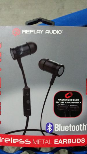 Kinetic replay audio Bluetooth wireless metal earbuds for Sale in Fresno, CA