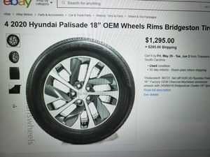 """4 - 18"""" Factory Aluminum Rims and Tires for Sale in Henderson, NV"""