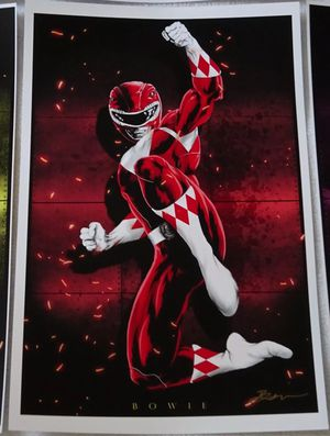 POWER RANGERS FIGURE Signed Art Print Poster •• See Pictures for details 🔵 and TONS of HOT ITEMS & TOYS here ..: for Sale in Las Vegas, NV
