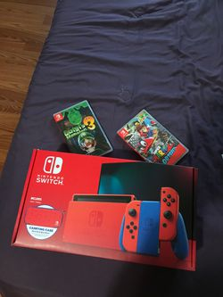 NINTENDO Switch Mario Edition + 2 Games for Sale in Garland,  TX