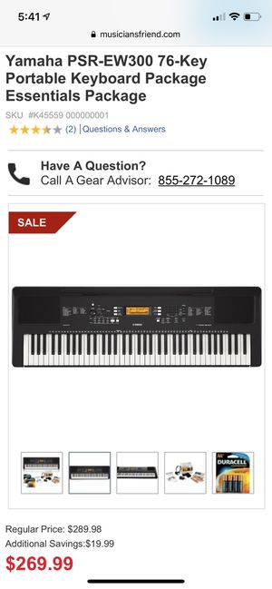 New in box, Yamaha PSR-EW300 76-Key Portable Keyboard Package Essentials Package for Sale in Lexington, KY