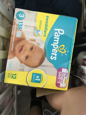 Pampers size 3 opened Box for Sale in Richmond, CA