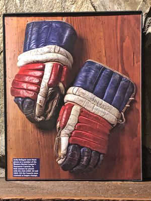 """Page from the Past : Picture of Hockey Gloves worn during the 1968-1970 season in """"8x10"""" glass frame. for Sale in Snellville, GA"""