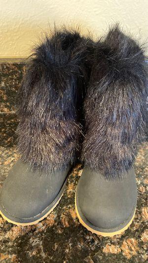 Toddler Girls Black Fur Boots- Size 10 for Sale in Denver, CO