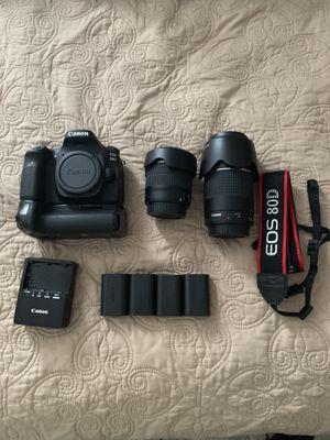 Canon 80D camera bundle for Sale in Gaithersburg, MD
