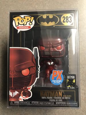 Batman Red Death Funko Pop PX Previews Exclusive Dark Knights Metal 283 with protector for Sale in Dallas, TX