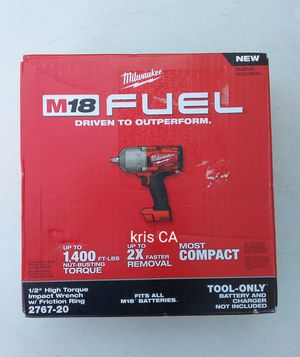 Milwaukee fuel high torque impact wrench 2767-20 for Sale in West Puente Valley, CA