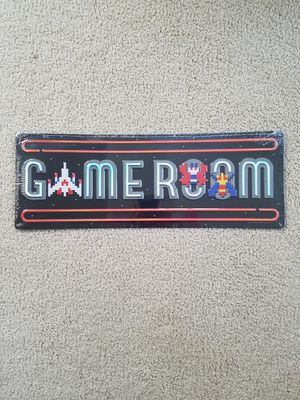 Gameroom galaga themed video game arcade embossed metal sign for Sale for sale  Vancouver, WA