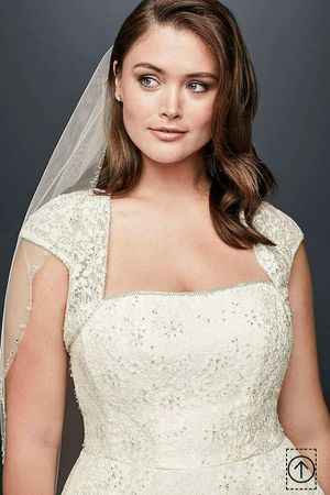 Davids Bridal Ivory 20 W. Tea Length Wedding Dress with Cap sleeve shrug for Sale in Philadelphia, PA