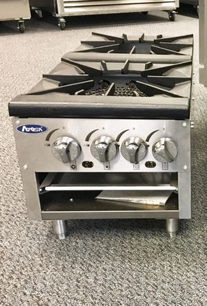 Commercial double burner gas stock pot stove-lower version for Sale in Kent, WA