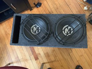 Memphis car Audio ported box and 12's for Sale in Gary, IN