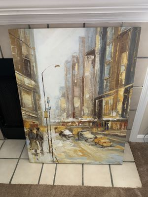 Rush Hour canvas painting 29 x 38 3/4 for Sale in Columbia, SC