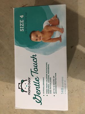 Mama Bear Gentle Touch size 4 diapers #148 unopened brand new box for Sale in Seattle, WA