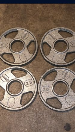 Weider 2.5lb Olympic Weight Plates for Sale in Carmichael,  CA