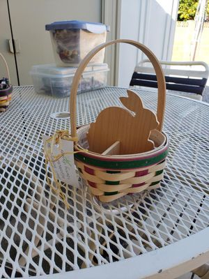 Longaberger Bunny Easter Basket Rare Collectible Divider and Protector for Sale in Phoenix, AZ