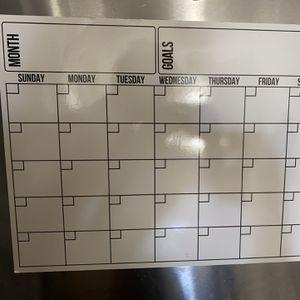 Fridge Calendar Magnetic Dry Erase Calendar Whiteboard Calendar for Sale in Rockville, MD