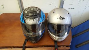 2 motorcycle helmets for Sale in Bowie, MD