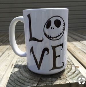 Nightmare Before Christmas LOVE mug/wine glass for Sale in Los Angeles, CA