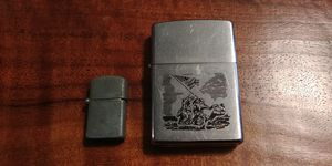 VINTAGE ZIPPO LIGHTER - WWII AMERICAN FLAG MARINES AT IWO JIMA. & Vintage Miniature Lighter for Sale in Stone Mountain, GA