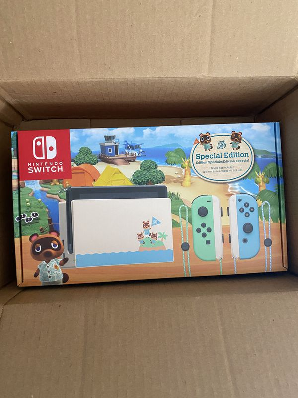 New Animal Crossing Edition Nintendo Switch with Joycons