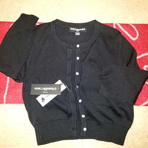 KARL LAGERFELD Paris: women's black cardigan (long sleeve), size S for Sale in Los Angeles, CA