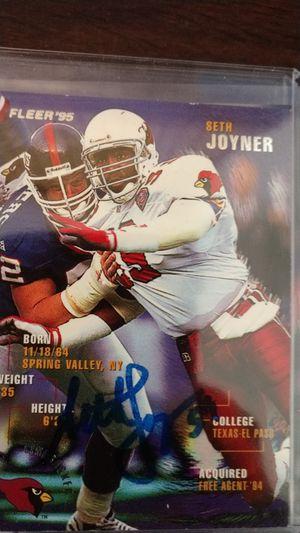 Seth Joyner Autograph card for Sale in Jacksonville, FL