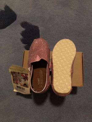 Toms Classics Pink Glitter shoes for Sale in Houston, TX