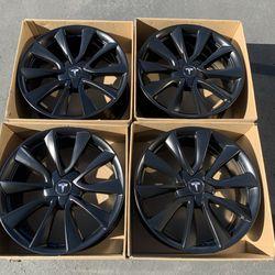"""19"""" Tesla Model 3 Factory Sport Original Wheels Rims Satin Black Brand New for Sale in Santa Ana,  CA"""