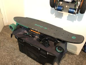 YUNEEC EGO-2 Electric Longboard Skateboard W/Remote Control and Charger for Sale in Tampa, FL