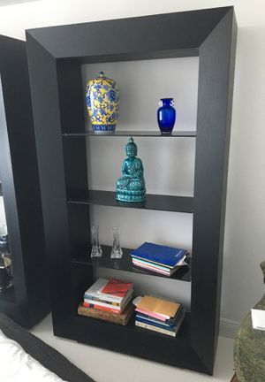Modrern Bookcase Bookshelf chocolate stain oak for Sale in Miami, FL