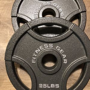 2x 25lb Plates For Olympic Barbell for Sale in Seattle, WA