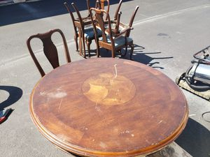 Round wooden table for Sale in Austin, TX