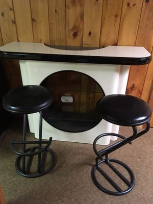 Stunning Art Deco bar - . 2 bar stools sold separately and matching mirror sold sept for Sale in Livingston, NJ