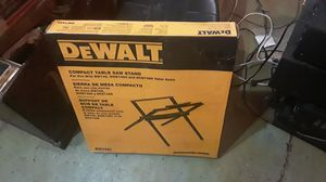 BRAND NEW IN BOX DEWALT COMPACT TABLE SAW STAND DW7451 for Sale in Waxahachie, TX