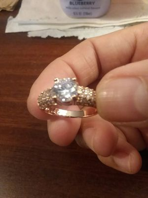 Beautiful ROSE GP Cubic Zirconia Ring for Sale in The Bronx, NY