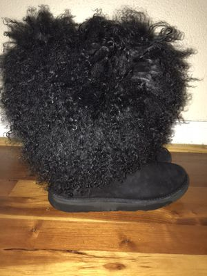 Mongolian fur ugg boots size 7 for Sale in Washington, DC