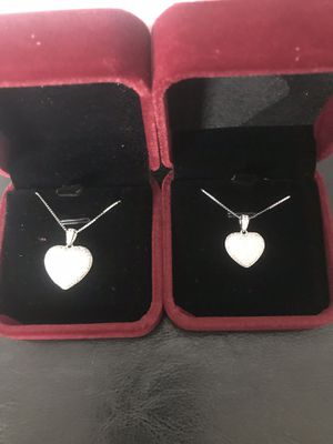 925 sterling silver heart pendant with necklace (big $28 each)(small $25 each) for Sale in Philadelphia, PA