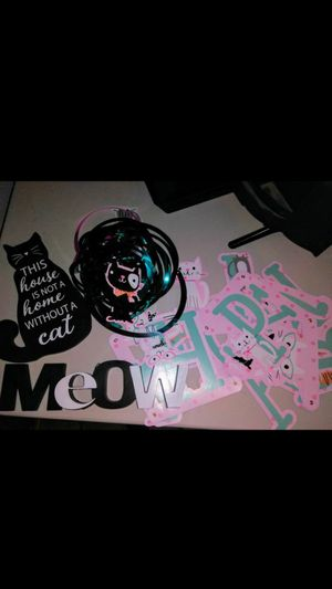Girls cat party decorations for Sale in Colton, CA