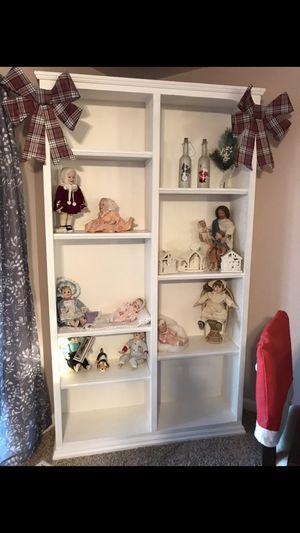 Ashton Drake Collection & White bookcase for Sale in Silverton, OR